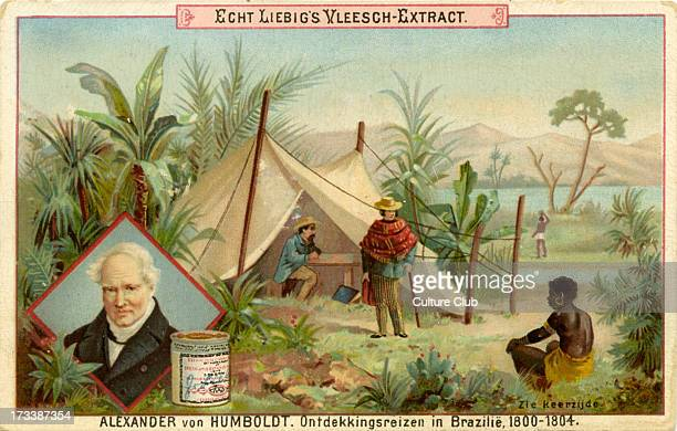 Published in 1891 Liebig Company series of Dutch collectible cards showing famous explorers AVH German naturalist and explorer 14 September 1769 – 6...