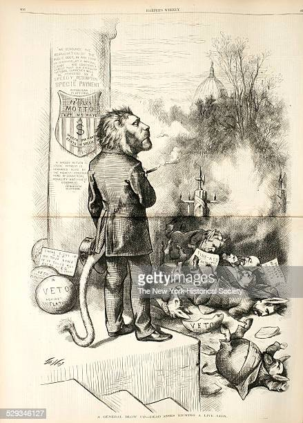 Published in Harper's Weekly May 16 1874 Wood engraving by Thomas Nast