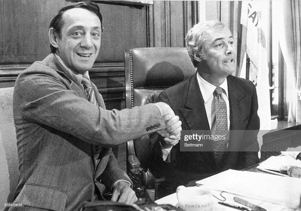 Harvey Milk and George Moscone : News Photo
