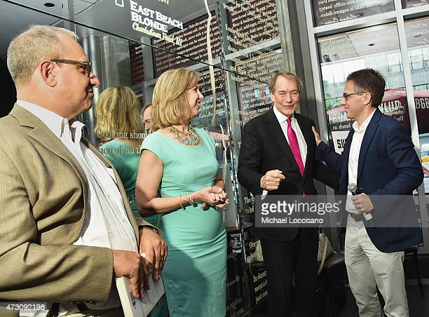 Publisher Adrian Zackheim, Managing Editor, Time Magazine Nancy Gibbs, journalist and interviewer Charlie Rose, and author Ian Bremmer attend the...