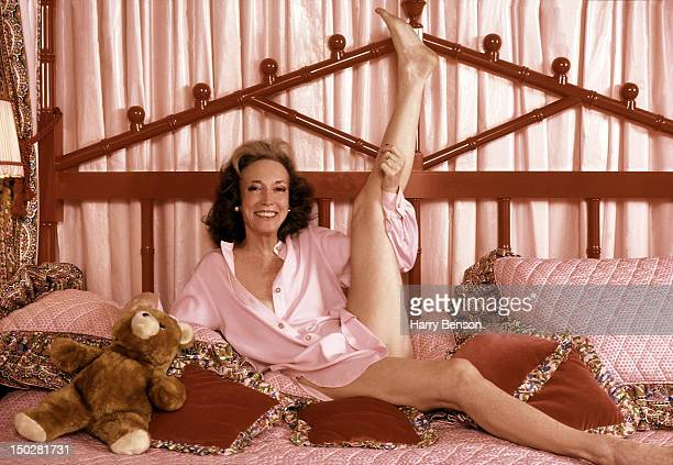 Publisher and author Helen Gurley Brown photographed in her bedroom in 1982 in New York City.