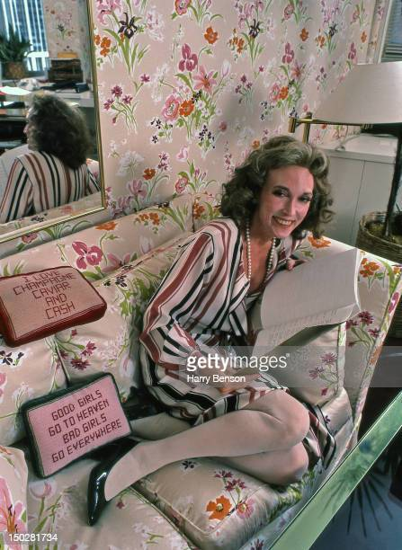 Publisher and author Helen Gurley Brown photographed in her office at Cosmopolitan in 1982 in New York City.