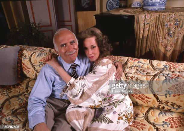 Publisher and author Helen Gurley Brown photographed with her husband David Brown in 1982 in New York City.