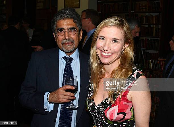 Publisher and editorinchief of Alfred A Knopf Ajai Singh Sonny Mehta and The Strand Bookstore owner Nancy Bass Wyden attend a cocktail reception with...