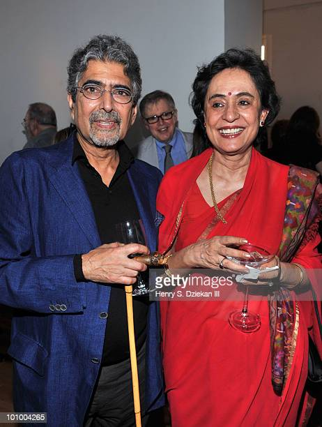 Publisher and editorinchief of Alfred A Knopf Sonny Mehta and writer Gita Mehta attend the BookExpo for Knopf cocktail party at The Ramscale...