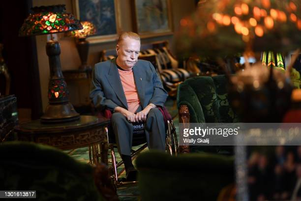Publisher and the president of Larry Flynt Publications, Larry Flynt is photographed for Los Angeles Times on March 14, 2017 in Beverly Hills,...