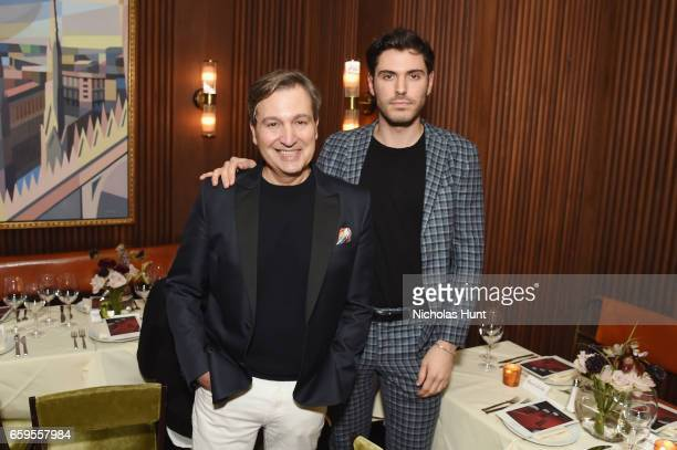 Publisher at WSJ Anthony Cenname and Blogger Joey Zauzig attend the Oliver Peoples Pour Berluti Launch Celebration at Sant Ambroeus SoHo on March 28...