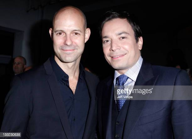 """Publisher Chris Mitchell and Jimmy Fallon arrives at GQ's 2011 """"Men of the Year"""" Party held at Chateau Marmont on November 17, 2011 in Los Angeles,..."""