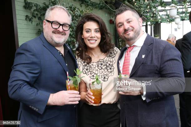 Publisher Christian Bryant, chef Claire Robinson, and Senior Vice President at EVINS Drew Tybus attend the Garden & Gun Mint Julep Month Kick Off...