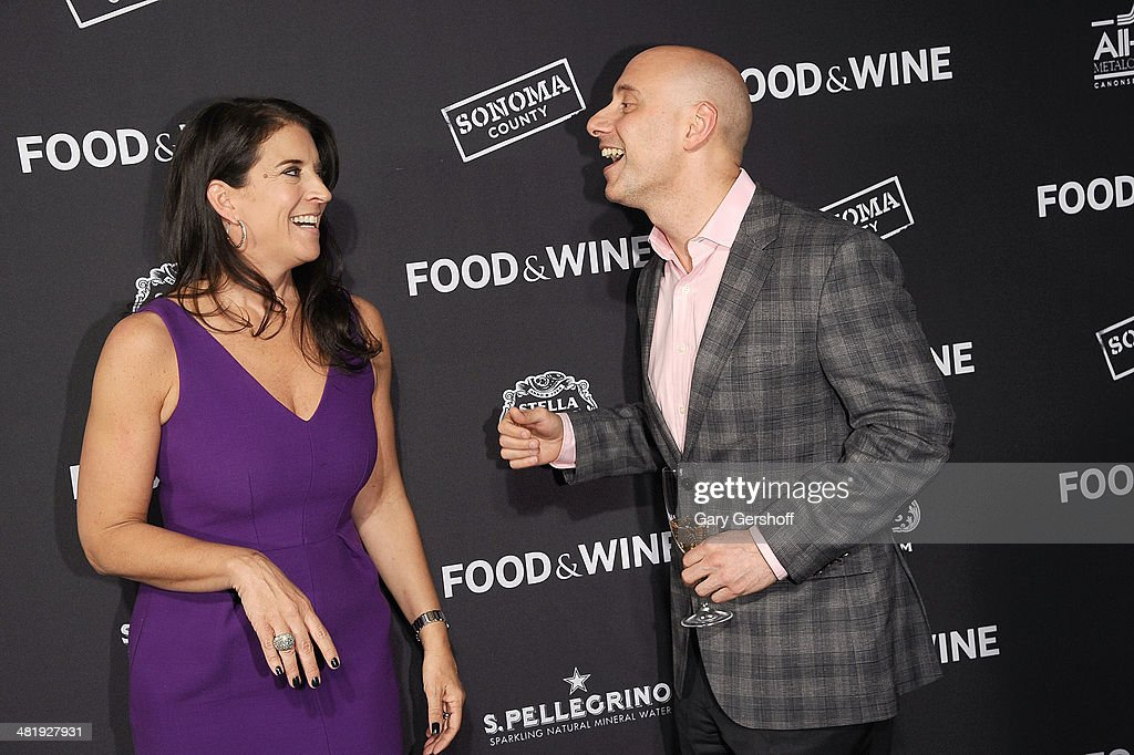 Publisher Christina Grdovic (L) and Chief Restaurant Officer at Union Square Hospitality Group, Sabato Sagaria attend the 2014 FOOD & WINE Best New Chefs Party at Powerhouse at The American Museum of Natural History on April 1, 2014 in New York City.