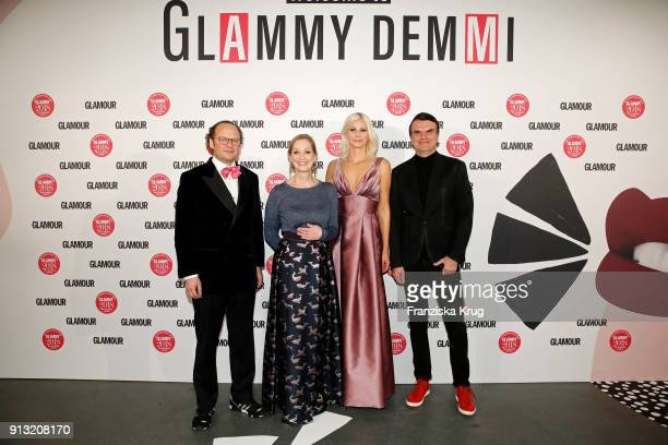 Publisher 'Conde Nast' Moritz von Laffert, Editor in Chief 'Glamour' Andrea Ketterer, Beauty Director 'Glamour' Stefanie Neureuter and Publisher...