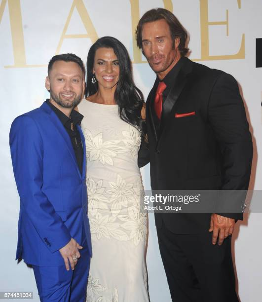 Publisher George Rojas Mona Muresan and Mike O'Hearn attend Amare Magazine Presents A Black Tie Event featuring cover model Mike O'Hearn held at...