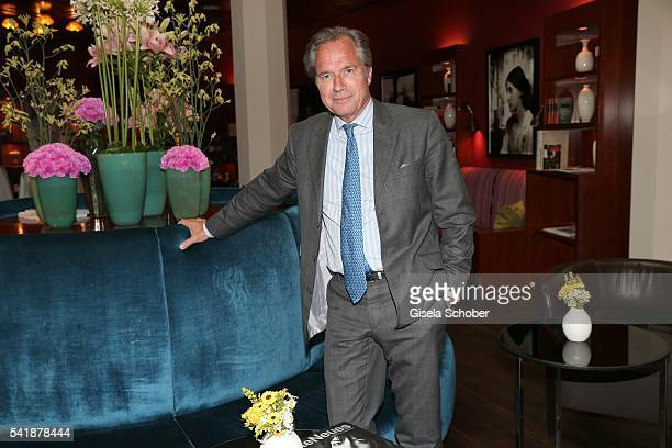 Publisher Hendrik teNeues during the presentation of the book 'Zu Gast in Griechenland Rezepte Kueche Kultur' at 'The Charles' Hotel on June 20 2016...