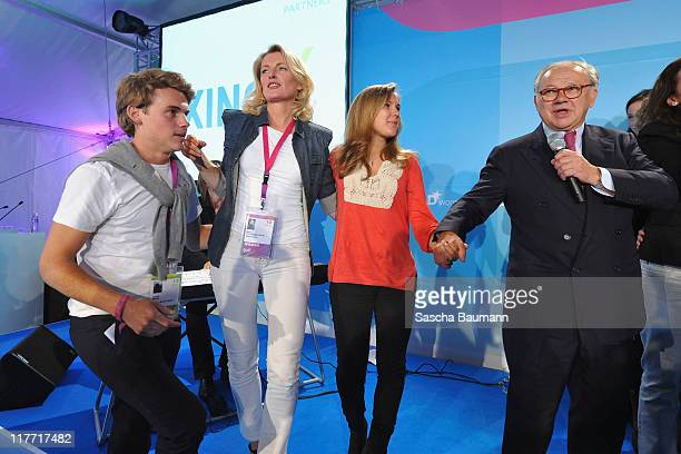 Publisher Hubert Burda his wife Maria Furtwaengler and their children Jacob and Elisabeth attend the Digital Life Design women conference at Bavarian...