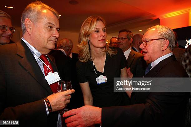 Publisher Hubert Burda talks to Wulf H Bernotat Chairman and CEO of EON AG and Silvana KochMehrin VicePresident European Parliament during the Burda...