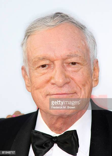 Publisher Hugh Hefner arrives at the 36th AFI Life Achievement Award tribute to Warren Beatty held at the Kodak Theatre on June 11 2008 in Hollywood...