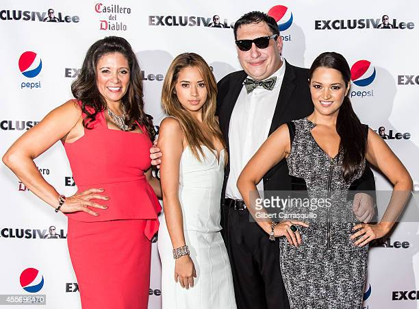 Publisher Iliana Gilbert singer Jasmine V Lee Hernandez and Paula Garces attend the New York Launch party for Exclusivleecom at Stray Kat Gallery on...