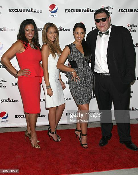 Publisher Iliana Guibert Singer Jasmine V Founder Lee Hernandez and Actress Paula Garces attends the Exclusivleecom Launch Party>> at Stray Kat...