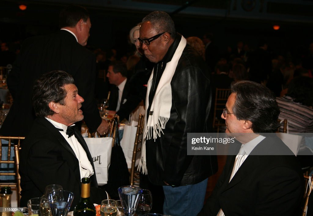 Publisher Jann Wenner, musician Sam Moore and musician Max Weinberg attend the 24th Annual Rock and Roll Hall of Fame Induction Ceremony at Public Hall on April 4, 2009 in Cleveland, Ohio.