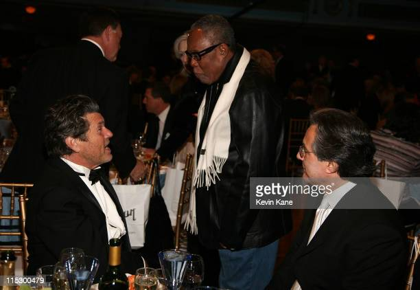 Publisher Jann Wenner, musician Sam Moore and musician Max Weinberg attend the 24th Annual Rock and Roll Hall of Fame Induction Ceremony at Public...