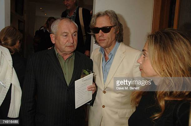 Publisher John Bird who launched The Big Issue magazine in 1991 to raise money for homeless people Sir Bob Geldof and Jeanne Marine attend the launch...