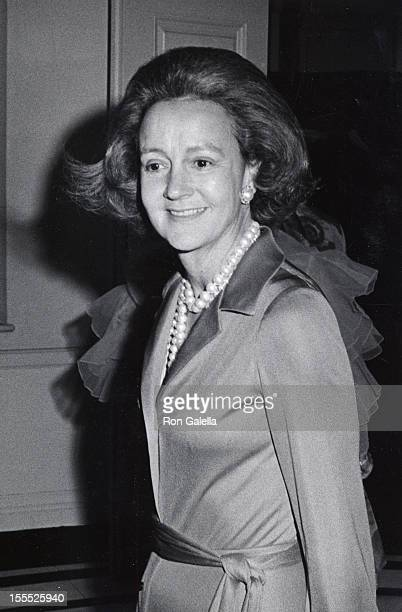 Publisher Katharine Graham attends 50th Birthday Party for Henry Kissinger on May 26 1973 at the Colony Club in New York City