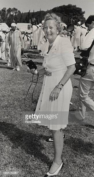 Publisher Katharine Graham attends 70th Birthday Party for Malcolm Forbes on August 18 1989 in Tangier Morocco