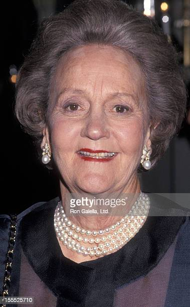 Publisher Katharine Graham attends CASA Awards Benefit Honoring James E Burke and Daniel B Burke on June 1 1993 at Columbia University in New York...