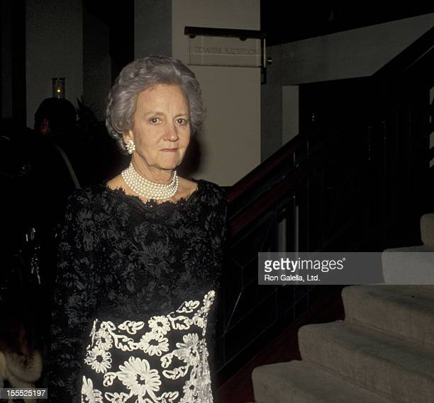 Publisher Katharine Graham attends Grid Iron Club Dinner Dance on March 26 1988 in Washingotn DC