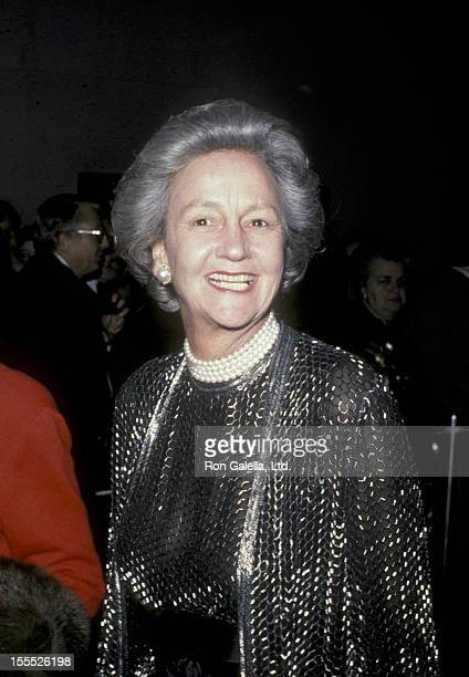 Publisher Katharine Graham attends Kennedy Center Honors on December 2 1984 at the Kennedy Center in Washington DC