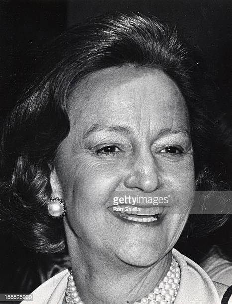 Publisher Katharine Graham attends the premiere of All The President's Men on April 4 1976 at the Kennedy Center in Washington DC