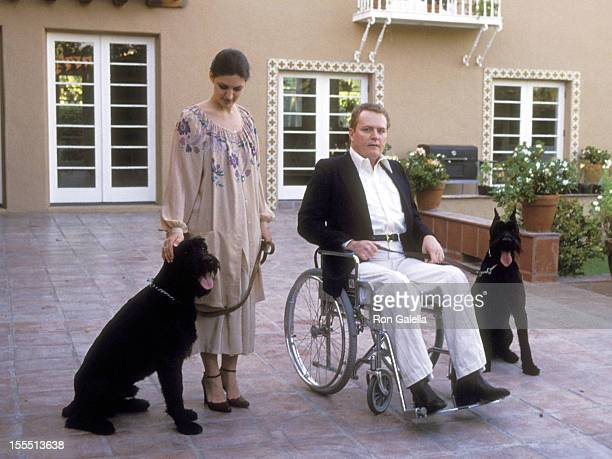 Publisher Larry Flynt and wife Althea Leasure on March 11 1979 pose for exclusive photographs at their home in Los Angeles California