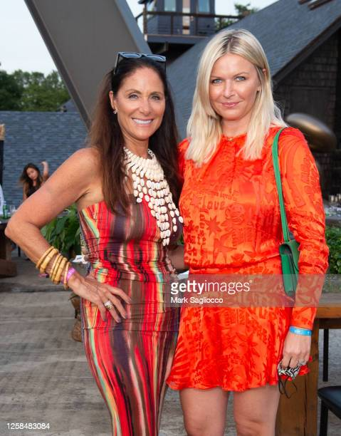 Publisher Lynn Scotti and Editor-in-Chief Anetta Nowosielka attend the Hamptons Magazine x The Chainsmokers VIP Dinner at The Barn at Nova's Ark on...