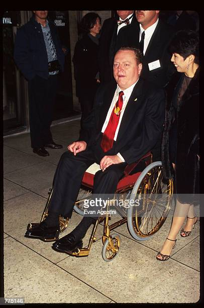 Publisher of Hustler magazine Larry Flynt attends the premiere of 'The People Vs Larry Flynt' on closing night of the 34th New York Film Festival...