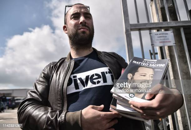 Publisher of Italy's deputy PM's new book, Francesco Polacchi, from Altaforte, a publishing house with close links to neo-fascist CasaPound, holds...