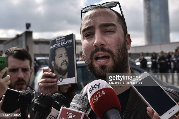 Publisher of Italy's deputy PM's new book, Francesco Polacchi, from Altaforte, a publishing house with close links to neo-fascist CasaPound, holds a...