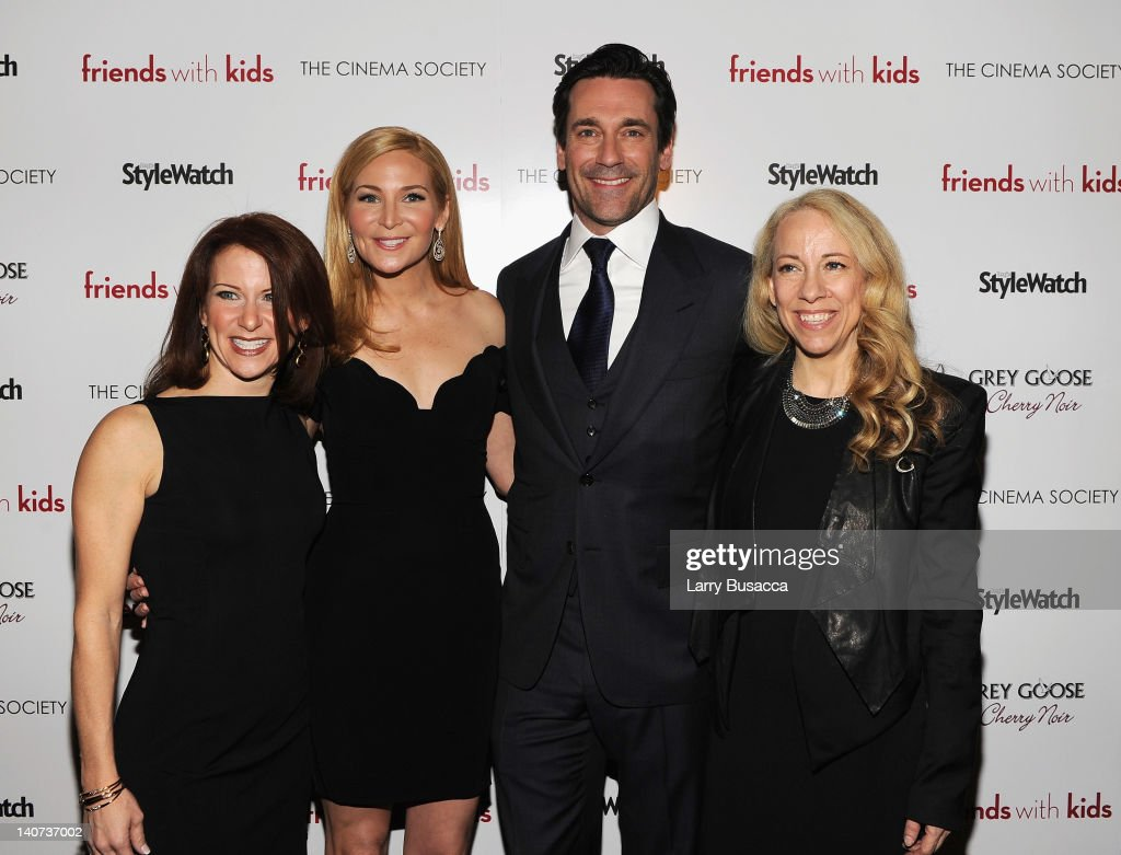 Publisher of People StyleWatch Stephanie Sladkus, director Jennifer Westfeldt, actor Jon Hamm and Susan Kaufman. Editor of People StyleWatch attend the Cinema Society & People StyleWatch with Grey Goose screening of 'Friends With Kids' at the SVA Theater on March 5, 2012 in New York City.