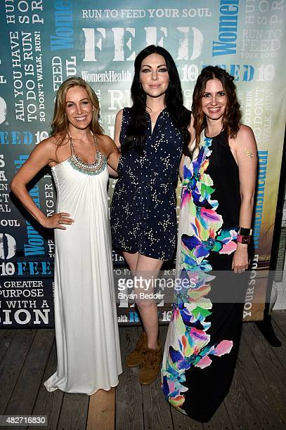 Publisher of Women's Health Laura FrererSchmidt actress Laura Prepron and EditorinChief of Womens Health magazine Amy Keller Laird attend the Women's...