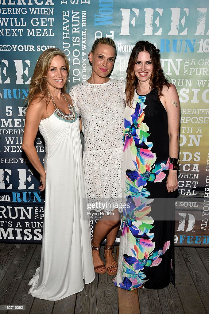 Publisher of Women's Health Laura Frerer-Schmidt, actress Molly Simms and Editor-in-Chief of Womens Health magazine Amy Keller Laird attend the Women's Health's 4th annual party under the stars for RUN10 FEED10 on August 1, 2015 in Bridgehampton, New York.