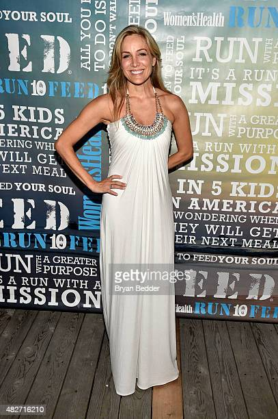 Publisher of Women's Health Laura FrererSchmidt attends the Women's Health's 4th annual party under the stars for RUN10 FEED10 on August 1 2015 in...