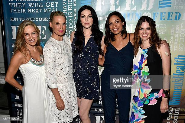 Publisher of Women's Health Laura FrererSchmidt Molly Simms Laura Prepron Rosario Dawson and EditorinChief of Womens Health magazine Amy Keller Laird...