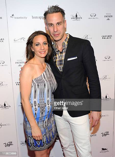 Publisher Pamela Drucker Mann and EditorinChief of Bon Appetit magazine Adam Rapoport arrive at Vegas Uncork'd by Bon Appetit's Grand Tasting event...
