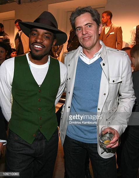 GQ publisher Peter Hunsinger and actor/musician Andre 3000 attend the Best New Menswear Designers in America Their Fall 2008 Collections presented by...