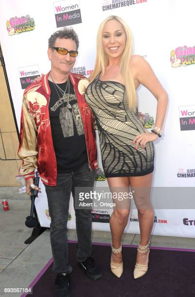 Publisher Robert Rhine and actress Mary Carey arrive for Etheria Film Night held at The Egyptian Theatre on June 3 2017 in Los Angeles California