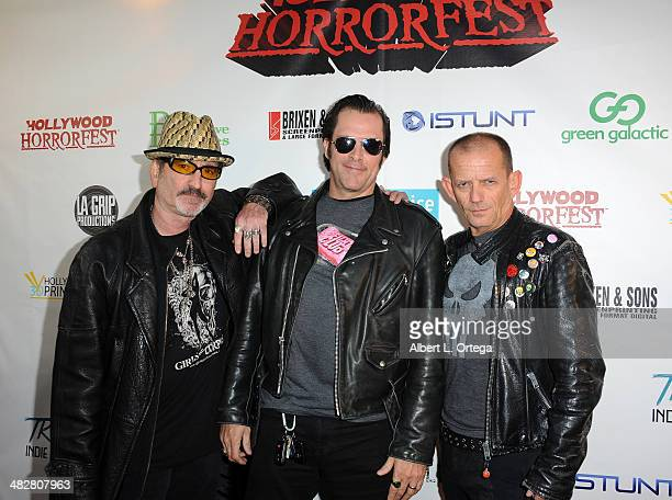 Publisher Robert Rhine director Ford Austin and actor Ezra Buzzington attend Hollywood Horrorfest Presentation of 'Return Of The Living Dead'...