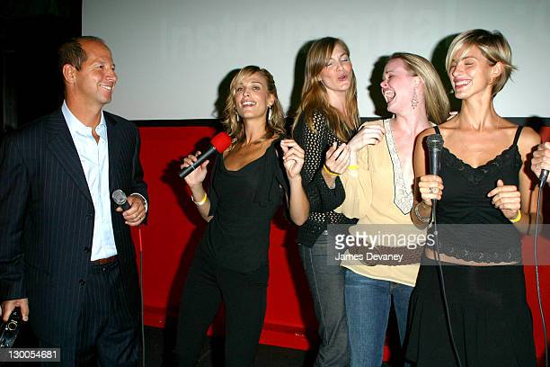 GQ publisher Ron Galotti Molly Sims and friends singing karaoke