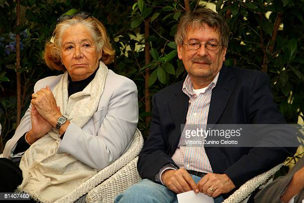 Publisher Rosellina Archinto and Illustrator Vladimir Novak attend the Gatti in Crisi D'Identita Book Launch held at Vivaio Sorelle Riva on June 04...