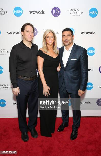 Publisher Simon and Schuster Jonathan Karp Joy Mangano and EVP Chief Corporate Content Licensing Officer CBS Scott Koondel attend as inventor and...