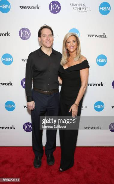 Publisher Simon Schuster Jonathan Karp and Joy Mangano attend as inventor and entrepreneur Joy Mangano celebrates the release of her first book...