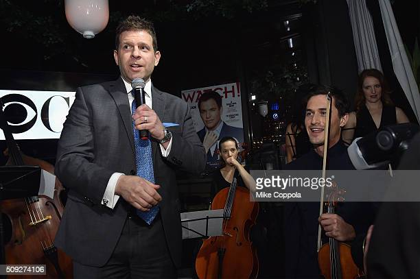 Publisher Watch Magazine Michael Rizzi and violinist Charlie Siem speak during The Daily Front Row's celebration of the 10th Anniversary of CBS Watch...